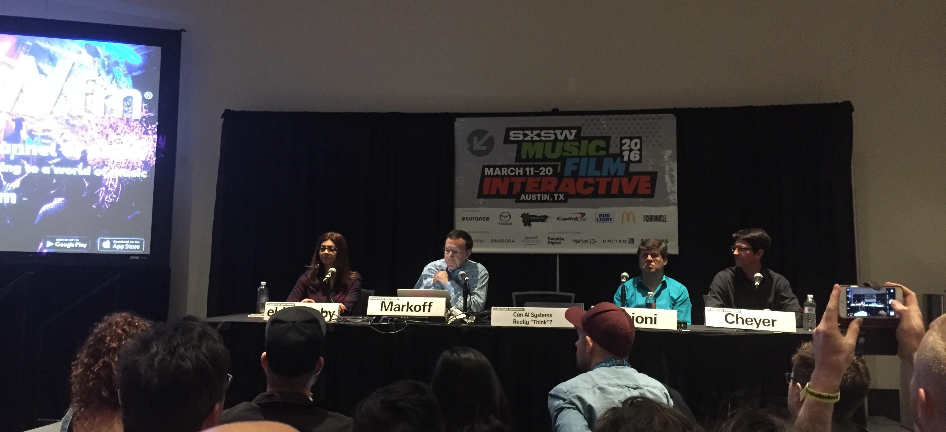 Kunnen AI systemen denken - Panel by SXSW 2016